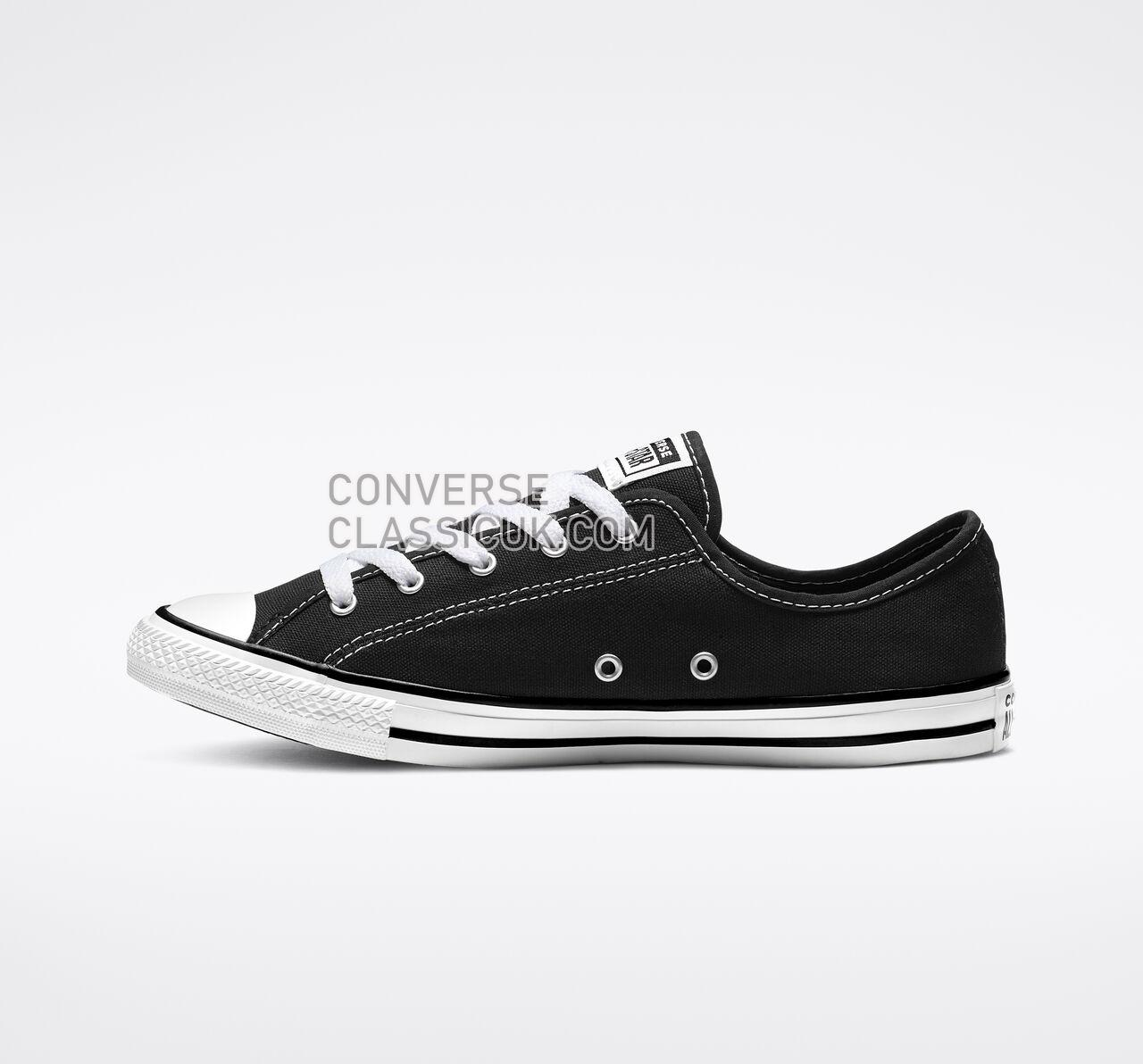 Converse Chuck Taylor All Star Dainty Low Top Womens 564982F Black/White/Black Shoes