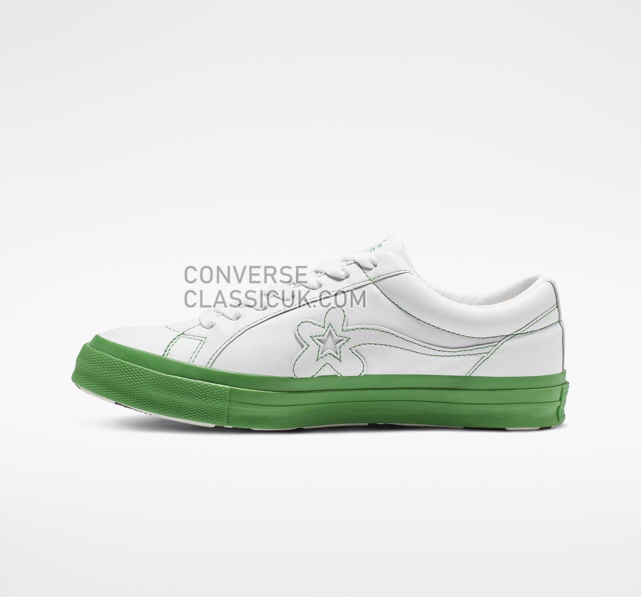 Converse x GOLF le FLEUR Colorblock One Star Low Top Mens Womens Unisex 164025C White/Antique White Shoes