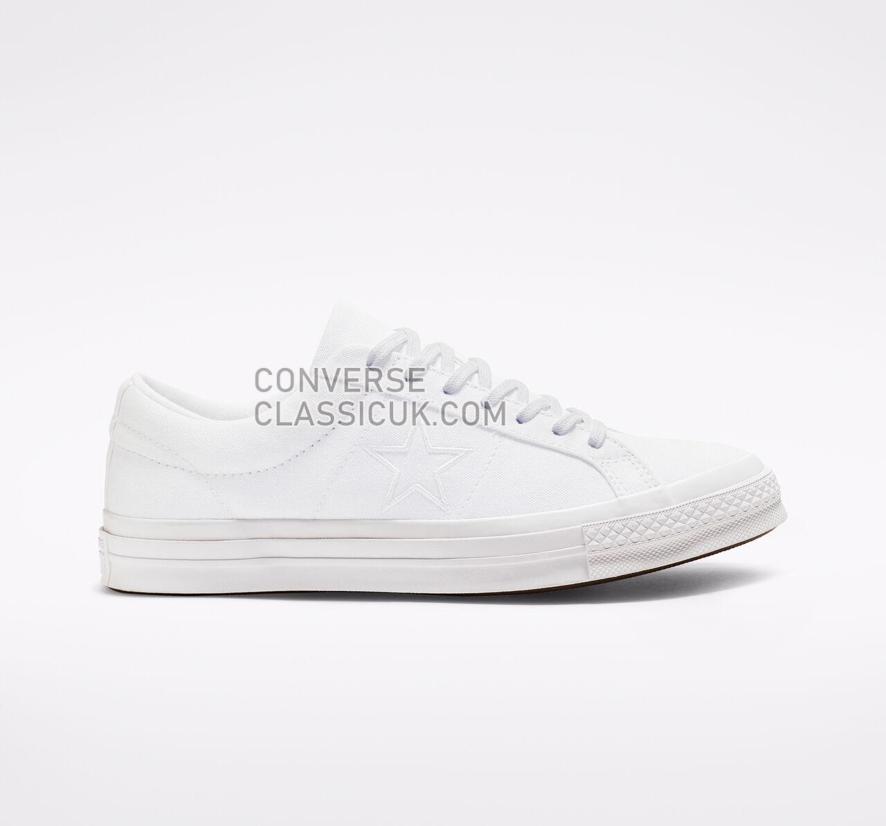Converse One Star Seasonal Color Mens Womens Unisex 163377C White/White/White Shoes
