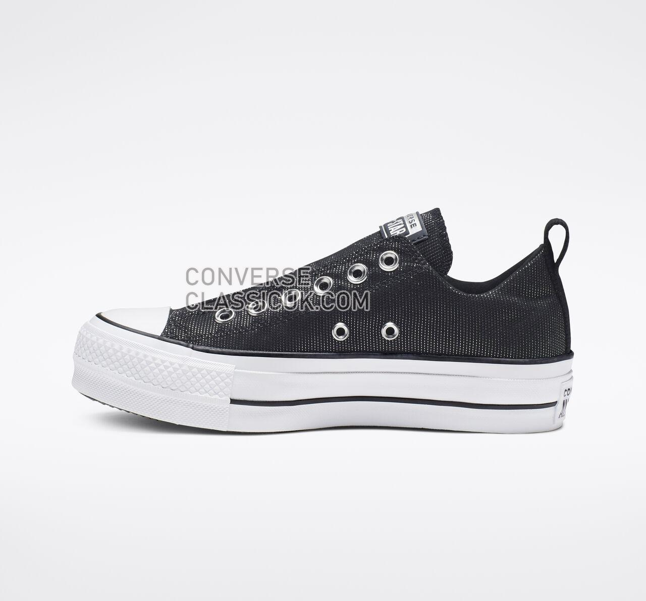 Converse Chuck Taylor All Star Final Frontier Platform Slip Womens 565240C Black/White/Black Shoes
