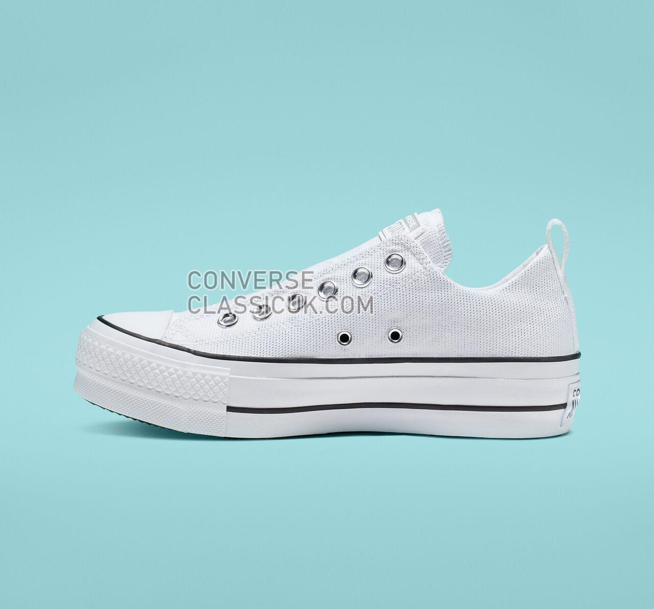 Converse Chuck Taylor All Star Final Frontier Platform Slip Womens 565241C White/White/Black Shoes