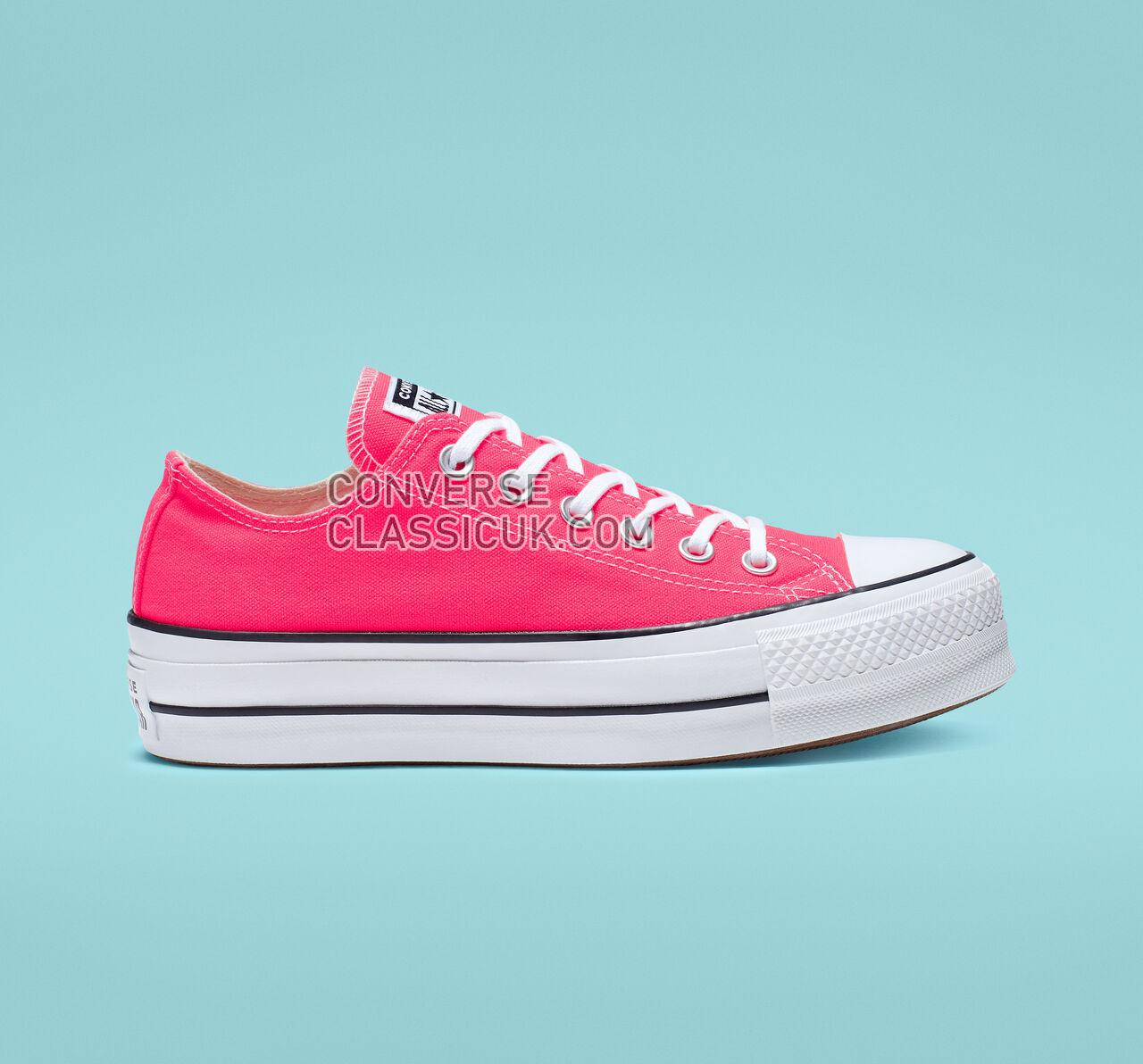 Converse Chuck Taylor All Star Clean Platform Low Top Womens 565501C Racer Pink/White/Black Shoes