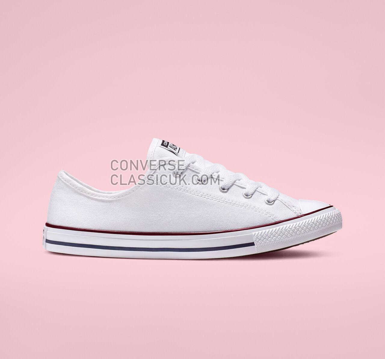 Converse Chuck Taylor All Star Dainty Low Top Womens 564981F White/Red/Blue Shoes