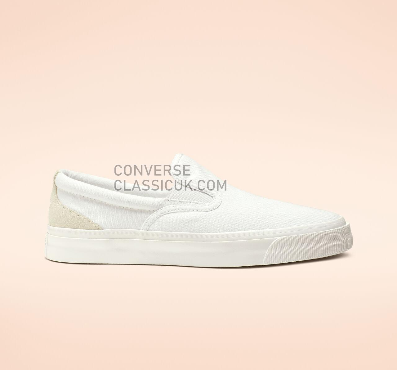 Converse One Star CC Slip Mens Womens Unisex 164395C White/White/White Shoes
