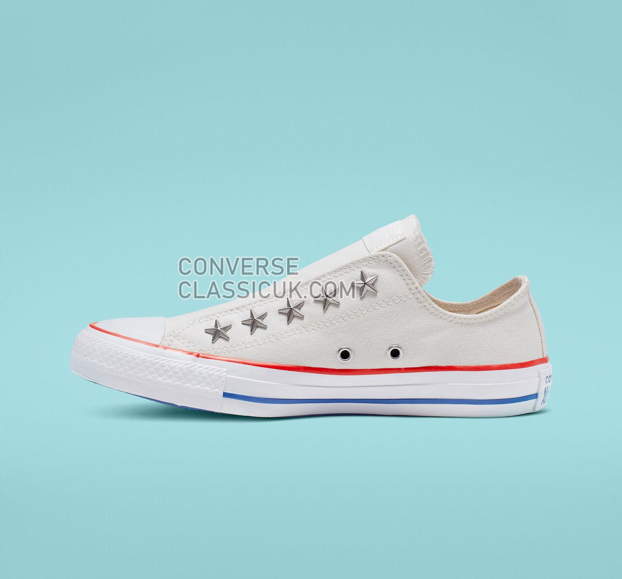 Converse Chuck Taylor All Star Starware Slip Womens 564971C Vintage White/Habanero Red Shoes
