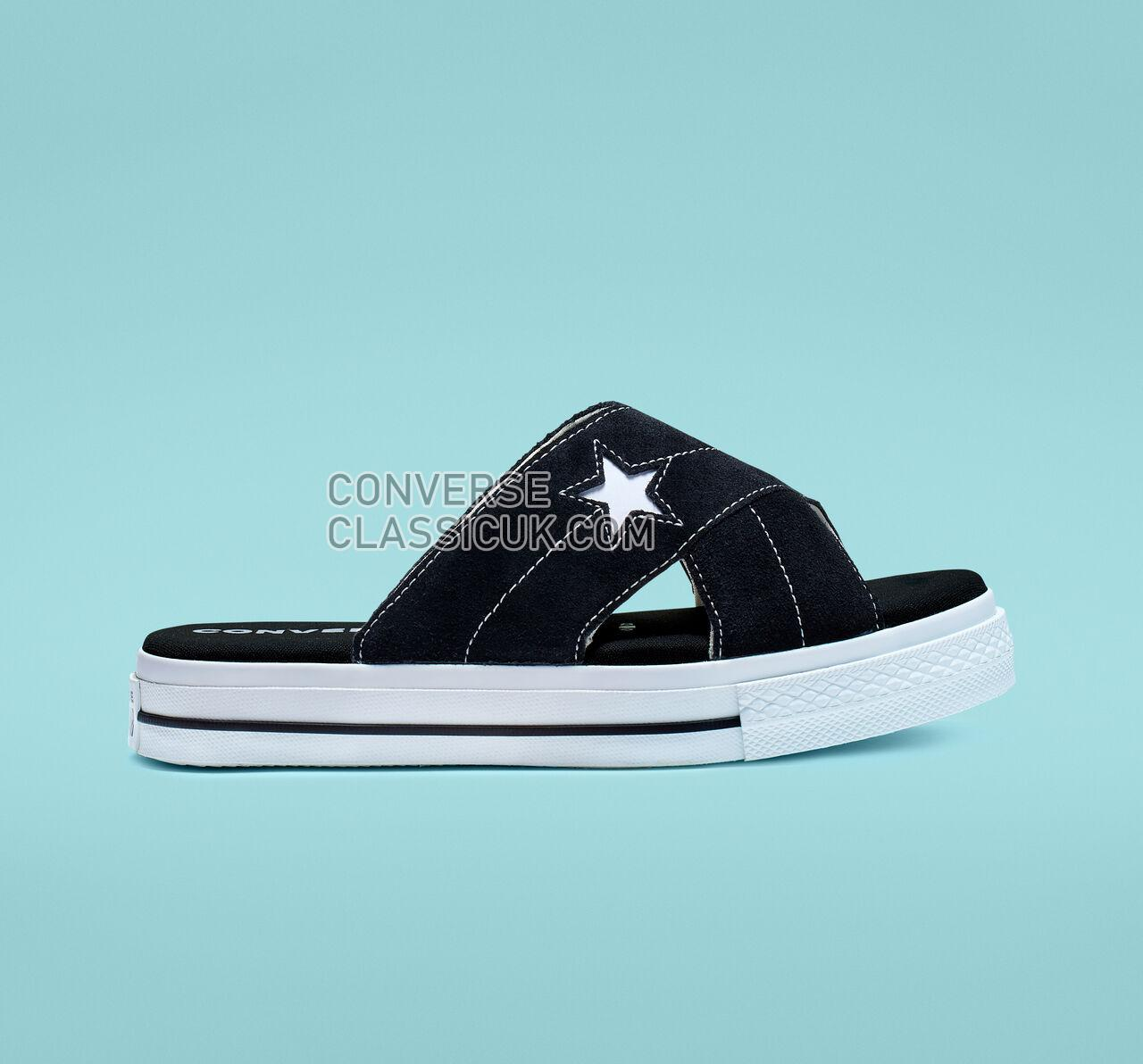 Converse One Star Sandalism Womens 564143C Black/Egret/White Shoes