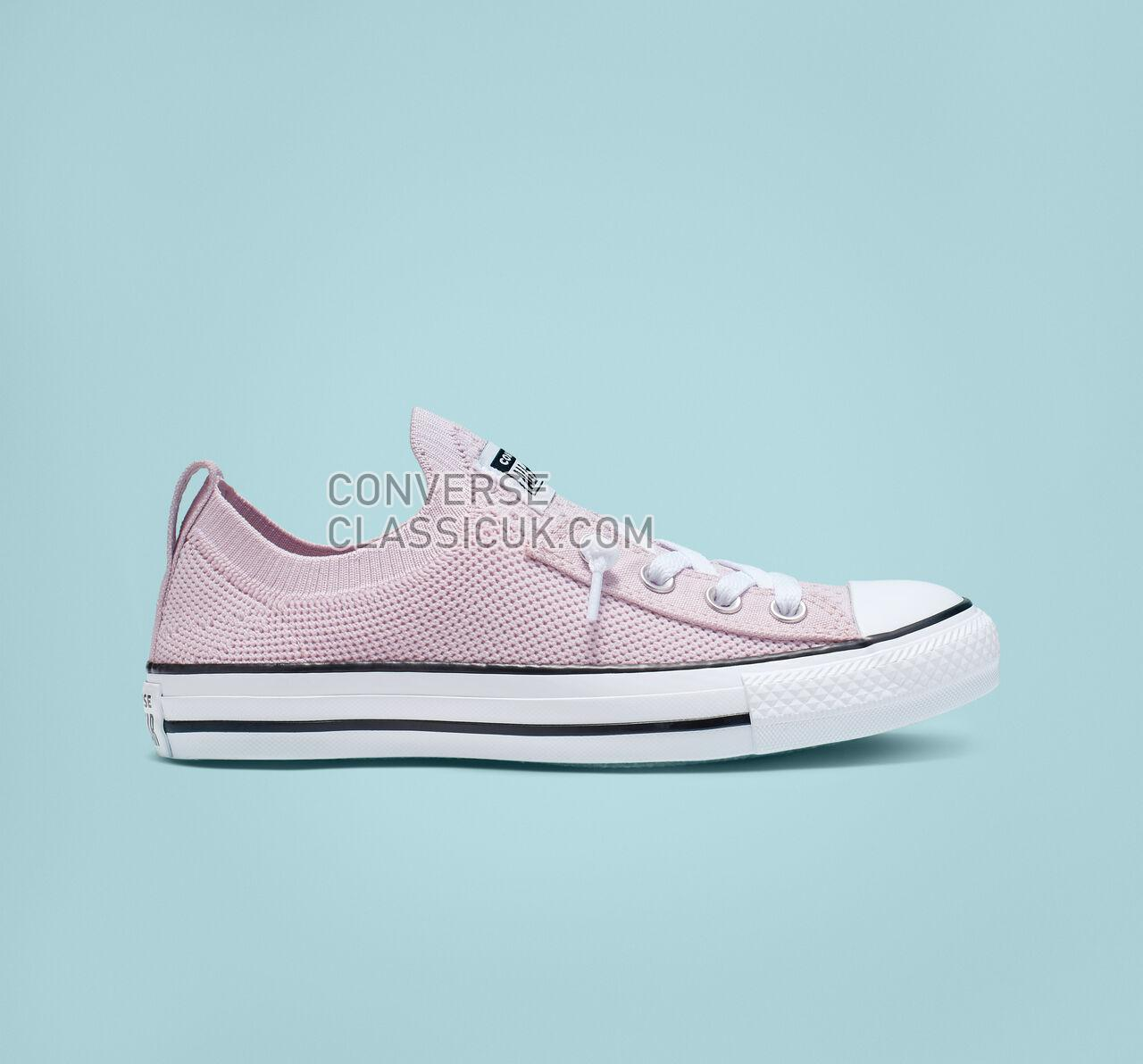 Converse Chuck Taylor All Star Shoreline Knit Slip Womens 565487F Barely Rose/White/Black Shoes