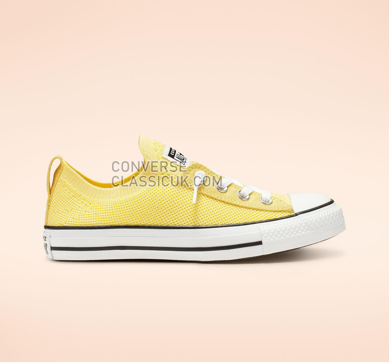 Converse Chuck Taylor All Star Shoreline Knit Slip Womens 565488F Butter Yellow/White/Black Shoes