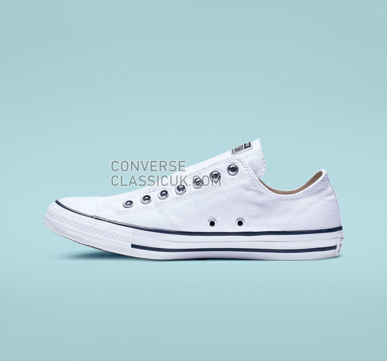 Converse Chuck Taylor All Star Slip Mens Womens Unisex 164301F White/Black/White Shoes