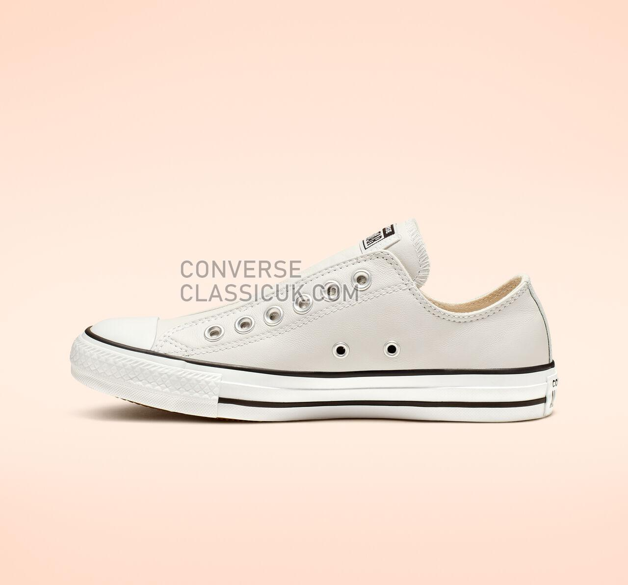 Converse Chuck Taylor All Star Leather Slip Mens Womens Unisex 164977C Mouse/White/Black Shoes