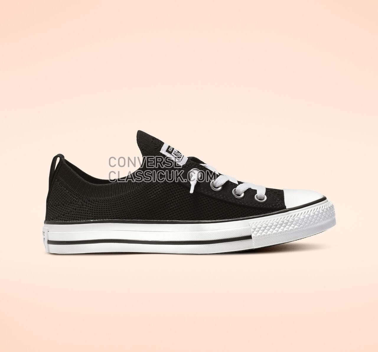 Converse Chuck Taylor All Star Shoreline Knit Slip Womens 565489F Black/White/Black Shoes