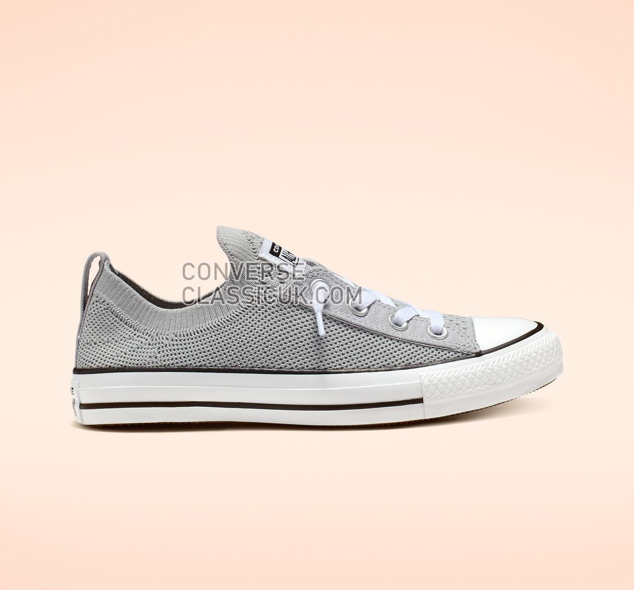 Converse Chuck Taylor All Star Shoreline Knit Slip Womens 565232F Wolf Grey/White/Black Shoes