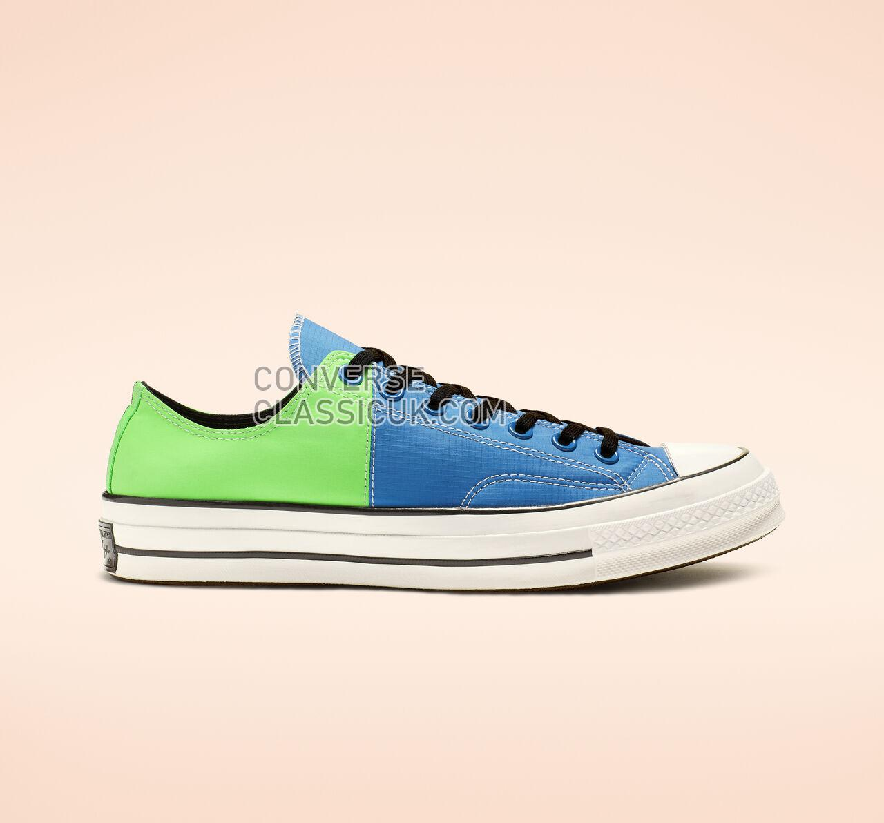 Converse Chuck 70 Get Tubed Low Top Mens Womens Unisex 164089C Totally Blue/Acid Green/White Shoes