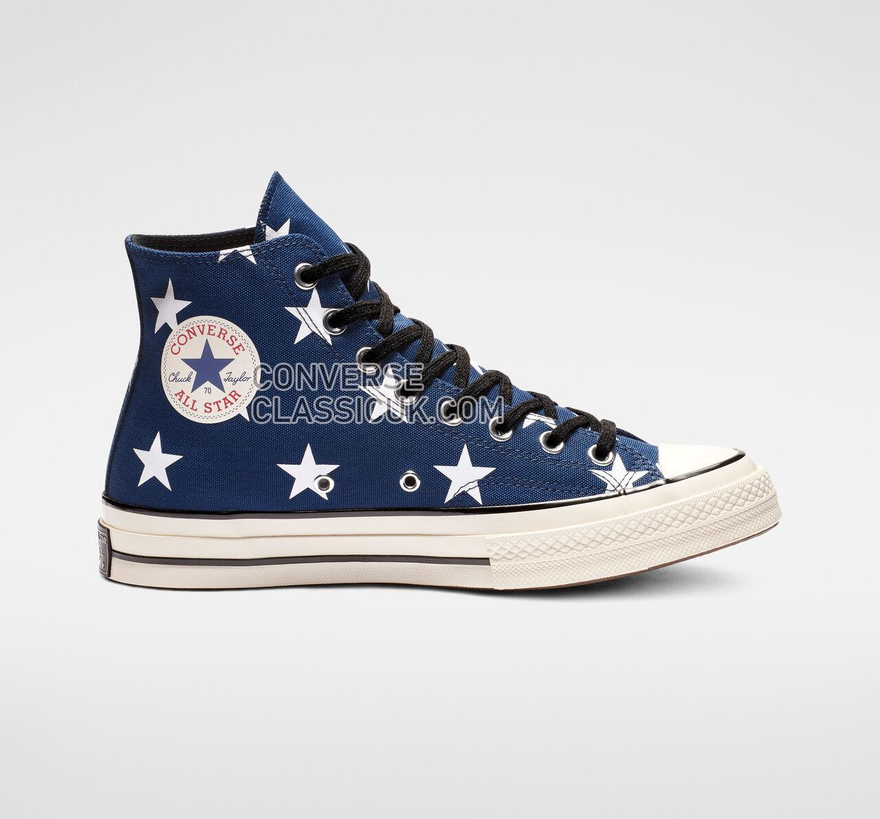 Converse Chuck 70 Archive Print High Top Mens Womens Unisex 163409C Navy/White/Egret Shoes