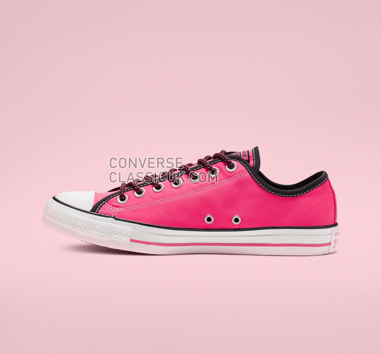 Converse Chuck Taylor All Star Get Tubed Low Top Mens Womens Unisex 164094F Racer Pink/Black/White Shoes