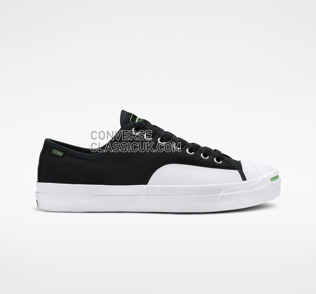 Converse CONS Jack Purcell Pro Rubber Ollie Patch Low Top Mens Womens Unisex 164161C Black/Acid Green/White Shoes