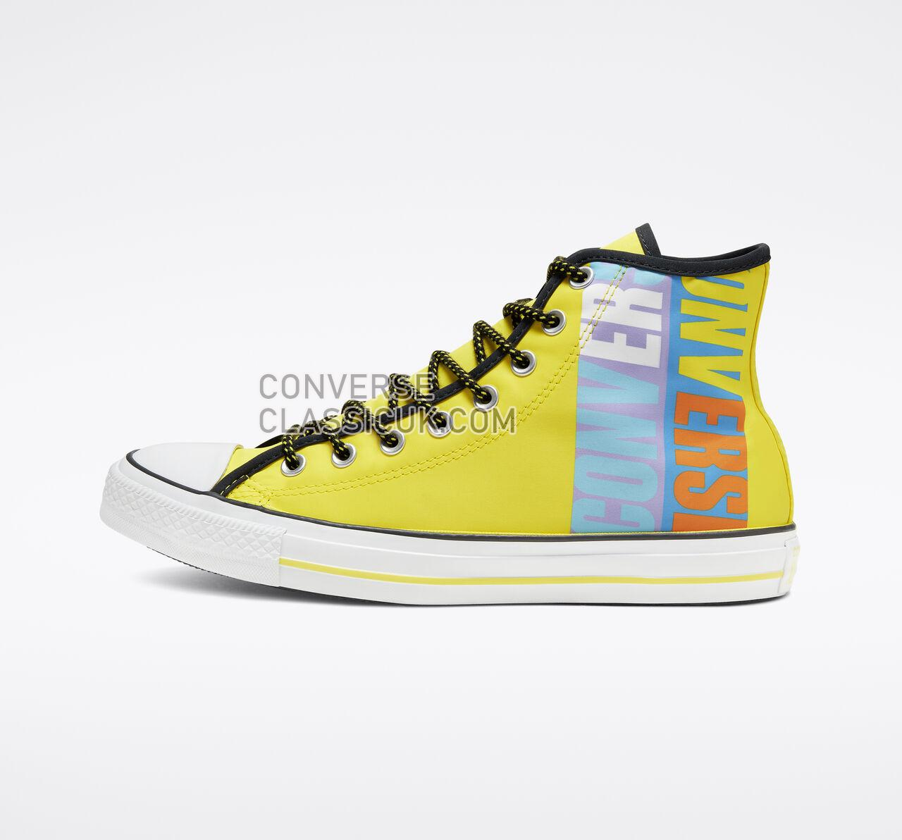 Converse Chuck Taylor All Star Get Tubed High Top Mens Womens Unisex 164092F Fresh Yellow/Black/White Shoes