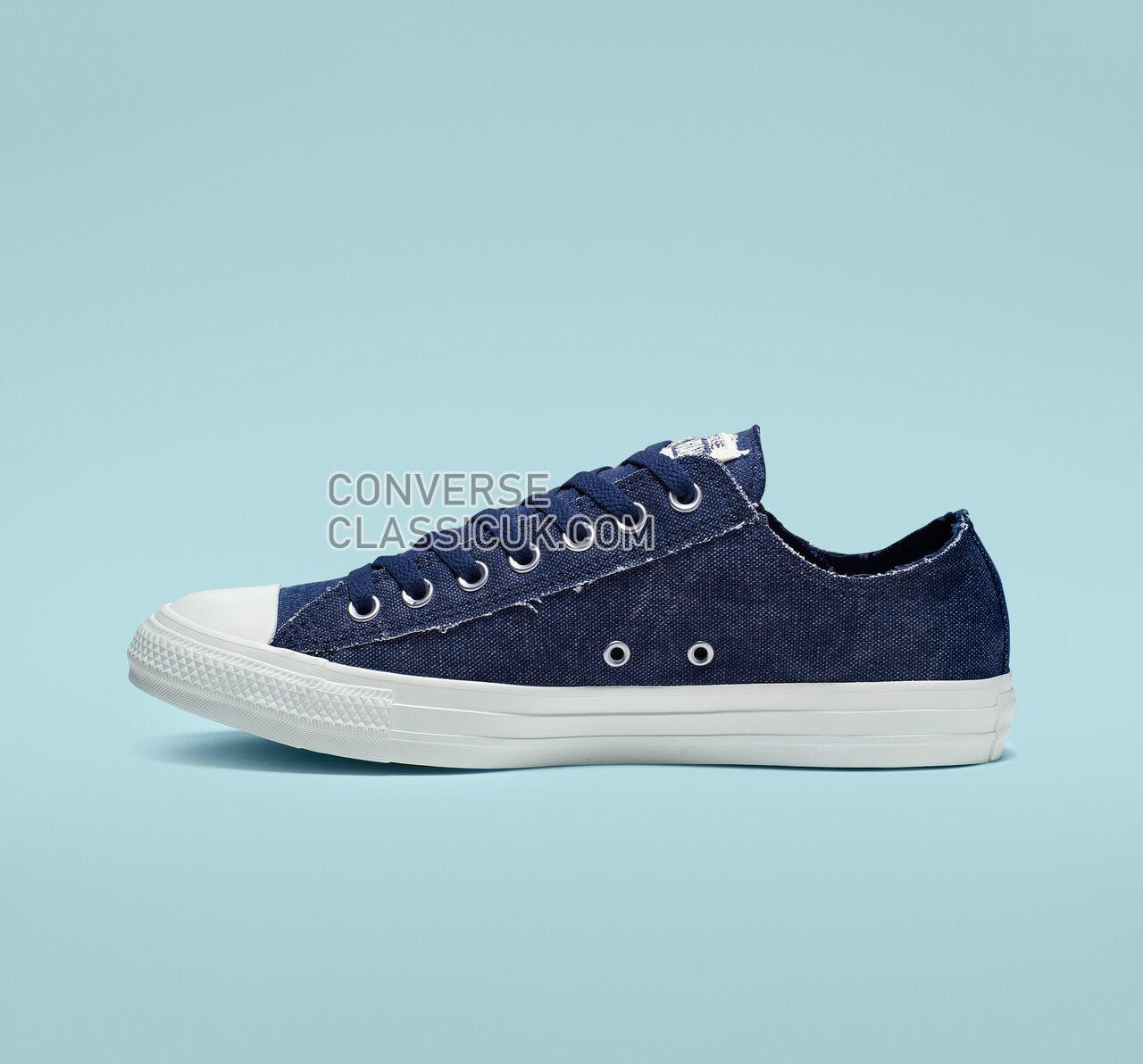 Converse Chuck Taylor All Star Washed Out Low Top Mens Womens Unisex 164099F Navy/Egret/Egret Shoes