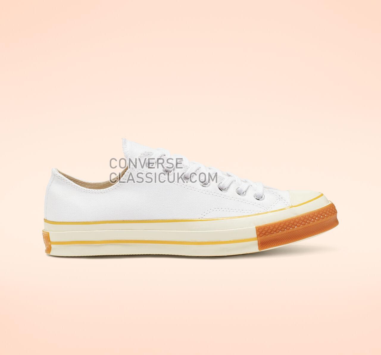 Converse Chuck 70 Pop Toe Low Top Mens Womens Unisex 165722C White/Egret/Gum Honey Shoes