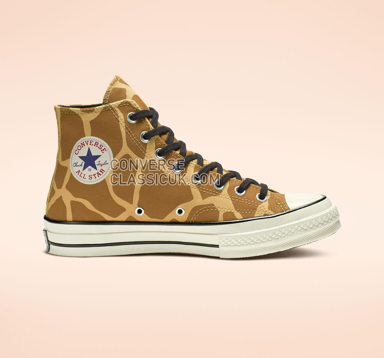 Converse Chuck 70 Archive Print High Top Mens Womens Unisex 163410C Flax/Brown/Egret Shoes