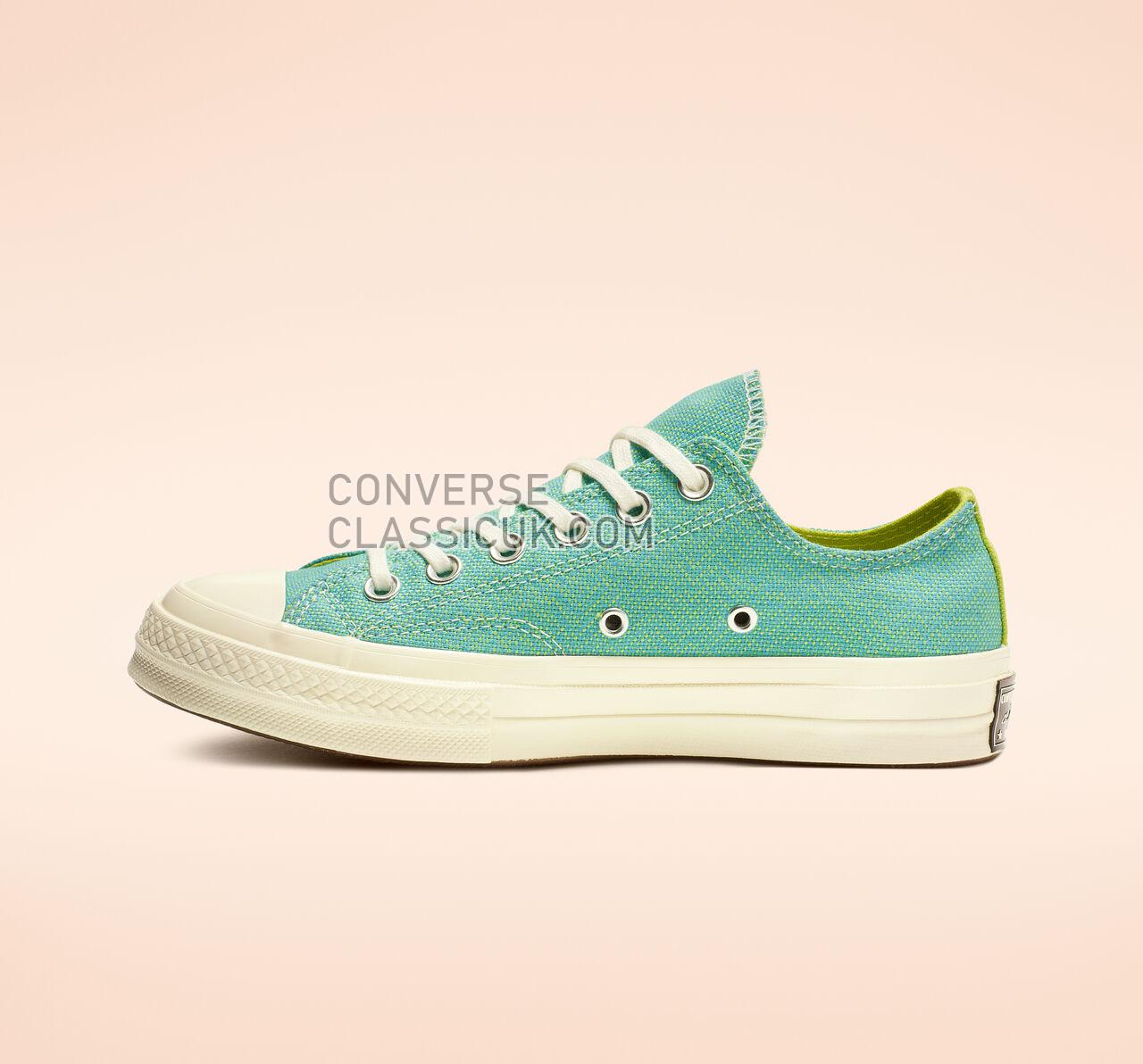Converse Chuck 70 Carnival Lights Low Top Womens 564132C Gnarly Blue/Bold Lime/Egret Shoes