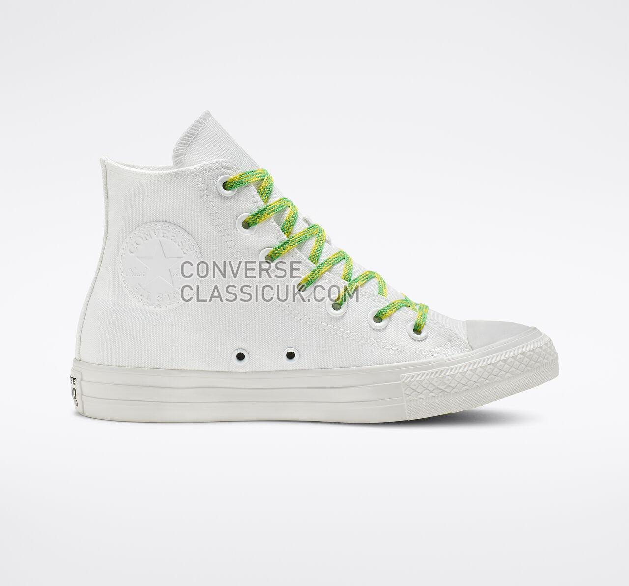 Converse Chuck Taylor All Star Glow Up High Top Womens 564123C White/Acid Green/Fresh Yellow Shoes