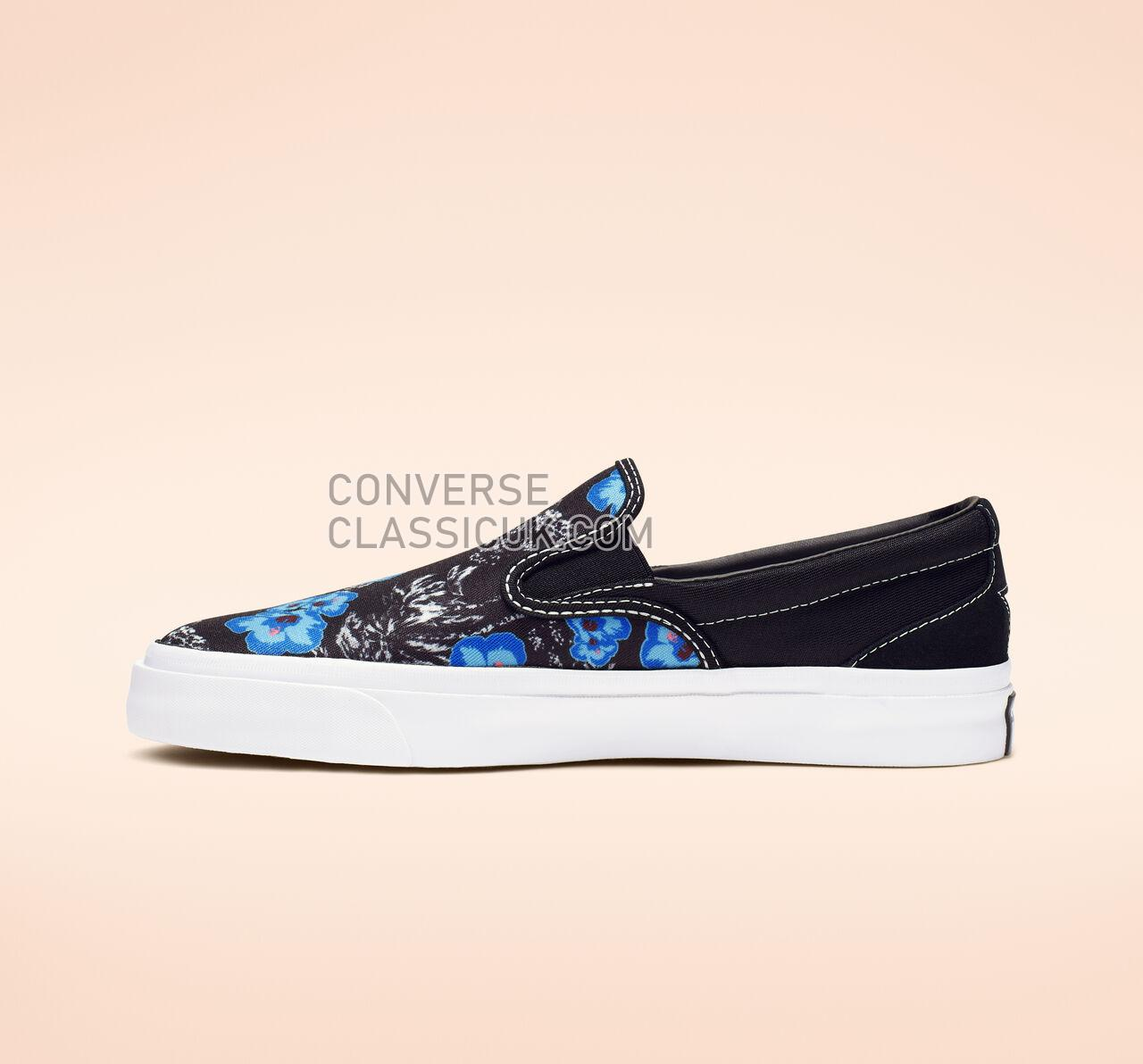 Converse One Star CC Paradise Floral Slip Mens Womens Unisex 164228C Black/Totally Blue/White Shoes