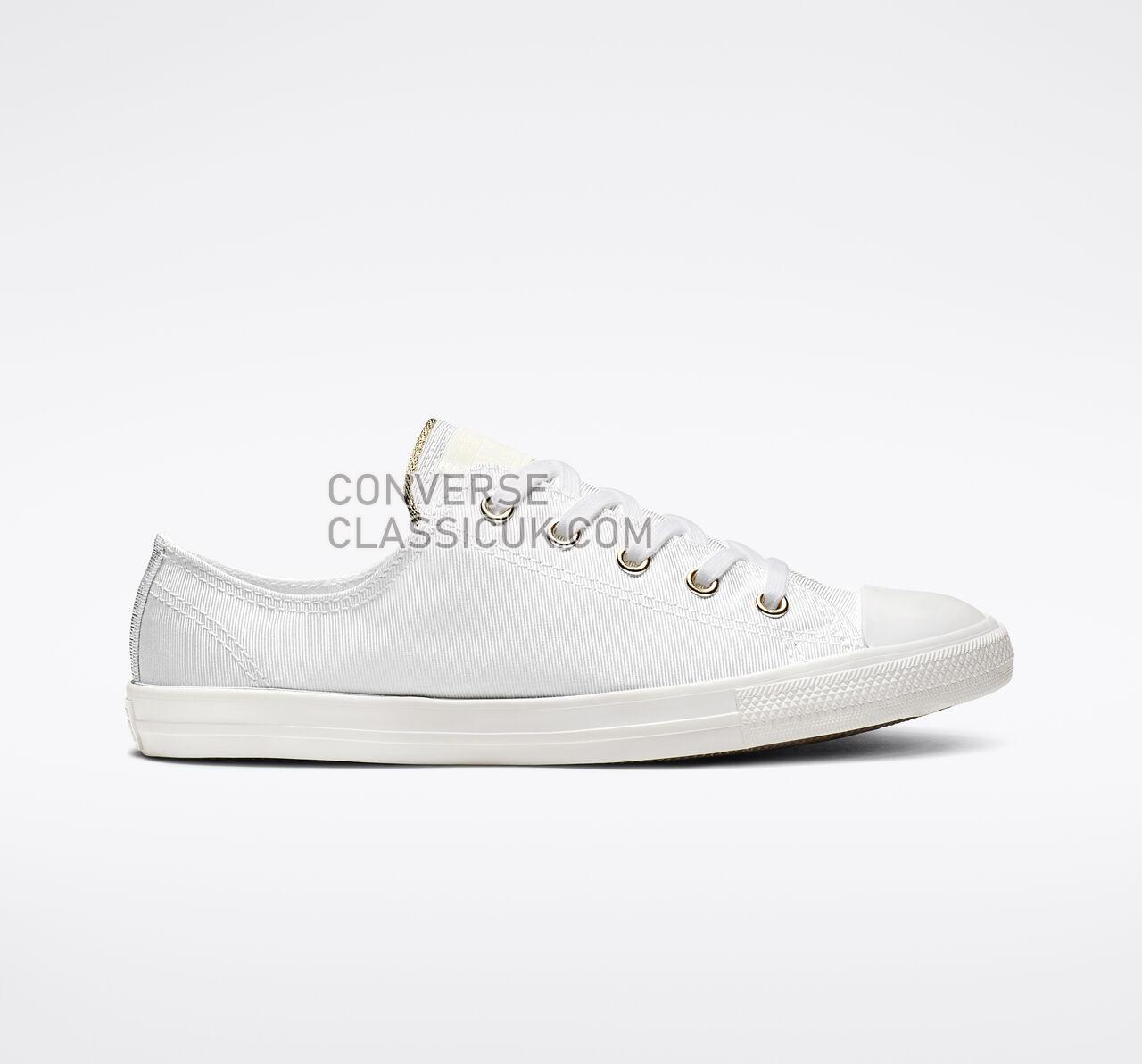 Converse Chuck Taylor All Star Dainty Low Top Womens 564309F White/Egret/Light Gold Shoes