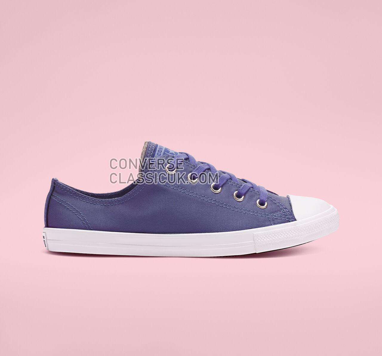 Converse Chuck Taylor All Star Dainty Low Top Womens 564308F Washed Indigo/Indigo Fog Shoes