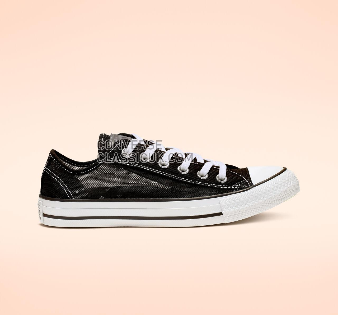 Converse Chuck Taylor All Star See Thru Low Top Womens 564627C Black/White/Black Shoes