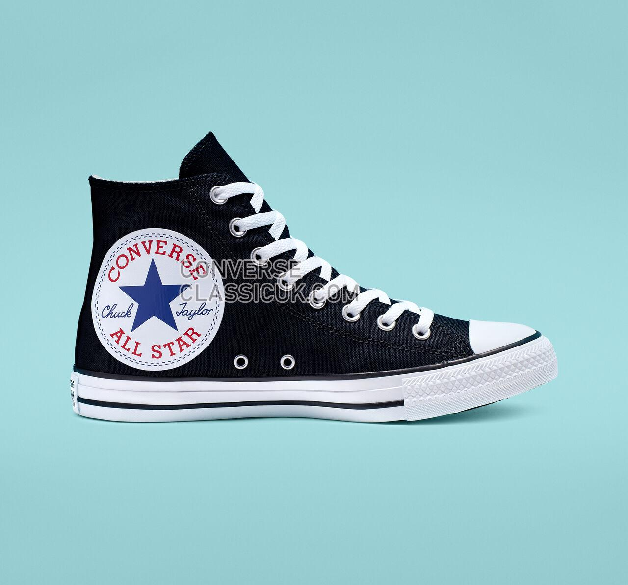 Converse Chuck Taylor All Star Oversized Logo High Top Mens Womens Unisex 165694C Black/White/Black Shoes