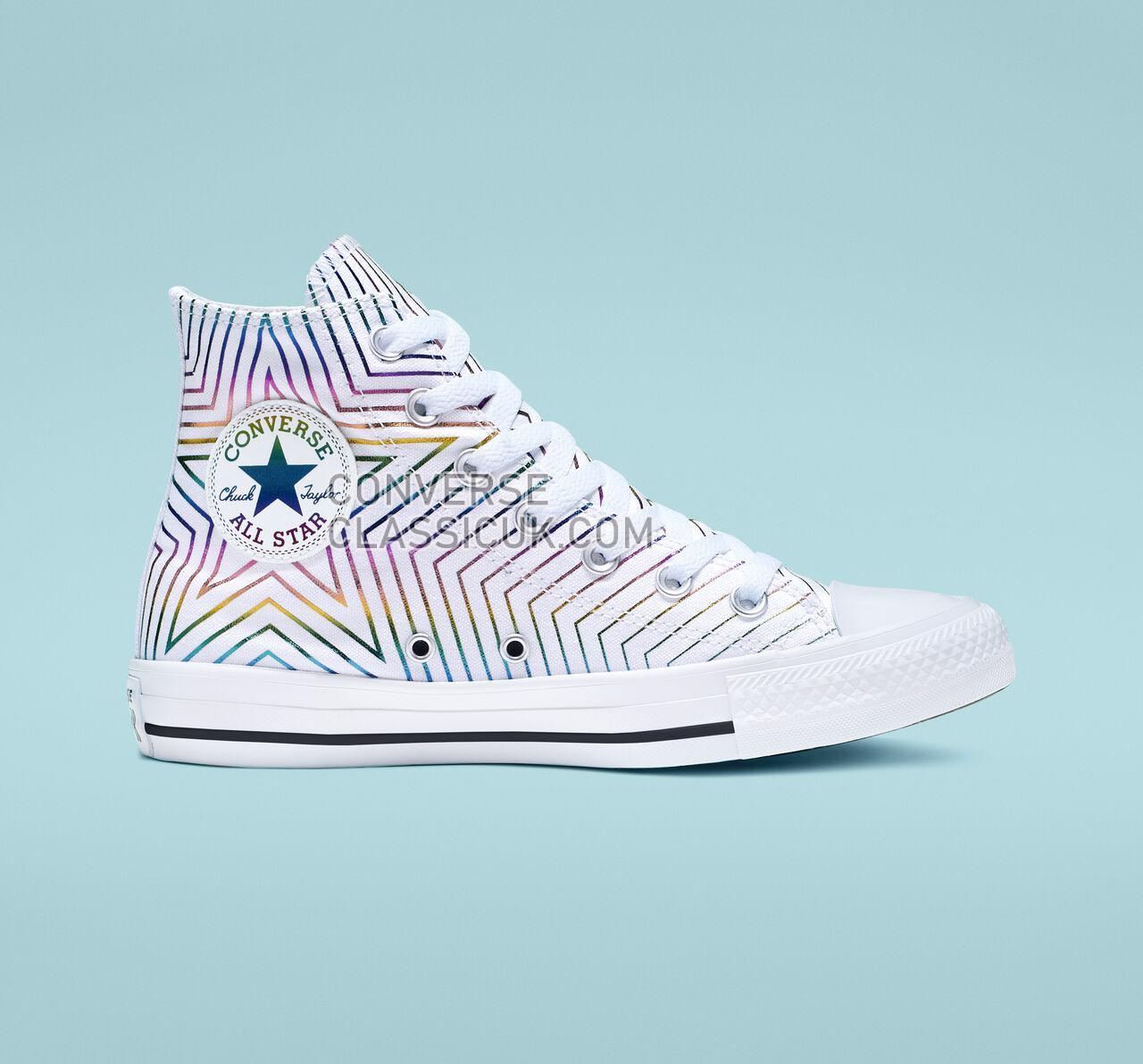 Converse Chuck Taylor All Star Exploding Star High Top Womens 565396F White/Black/White Shoes