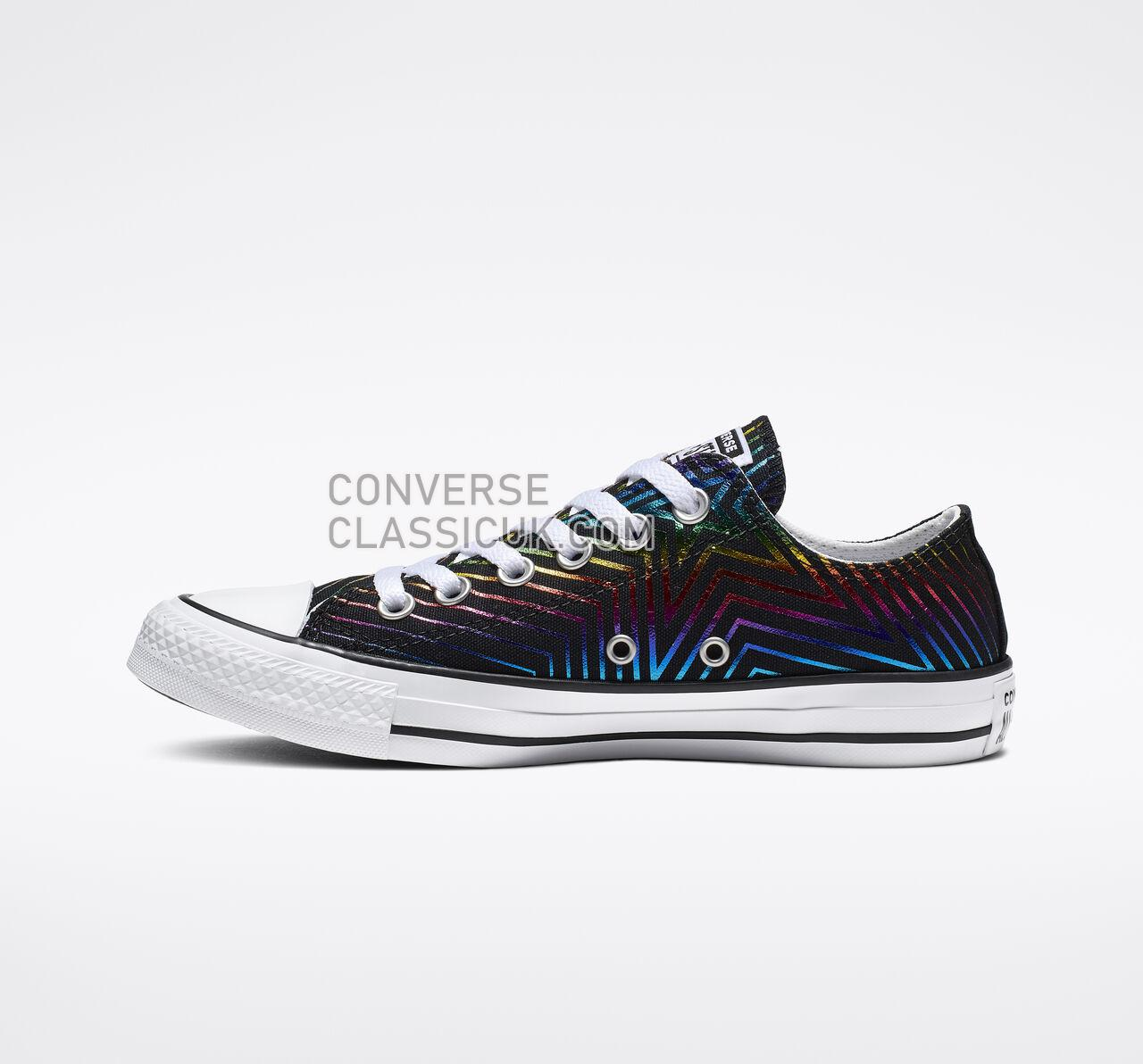 Converse Chuck Taylor All Star Exploding Star Low Top Womens 565439F Black/White/Black Shoes