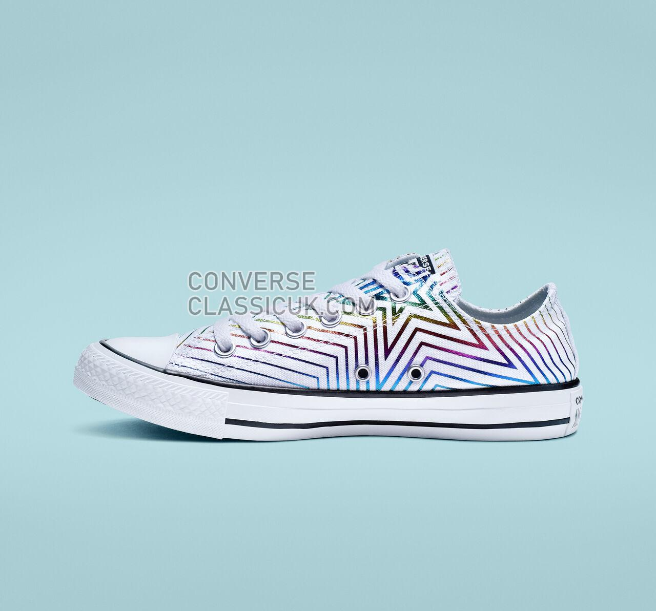 Converse Chuck Taylor All Star Exploding Star Low Top Womens 565440F White/Black/White Shoes