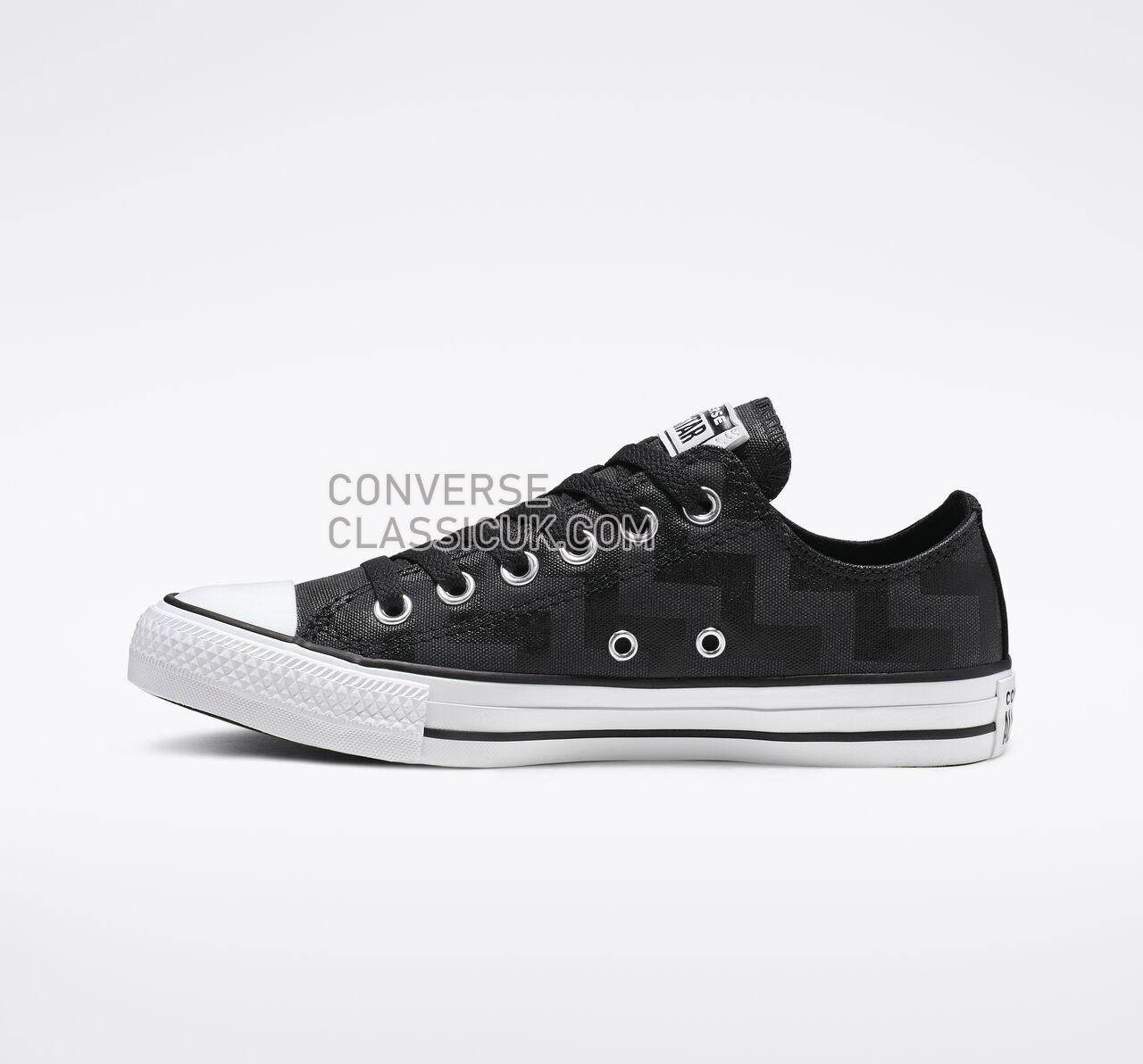 Converse Chuck Taylor All Star Glam Dunk Low Top Womens 565437F Black/White/Black Shoes