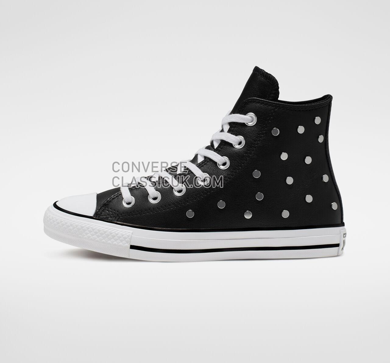 Converse Chuck Taylor All Star Studs High Top Womens 565849C Black/White/Black Shoes