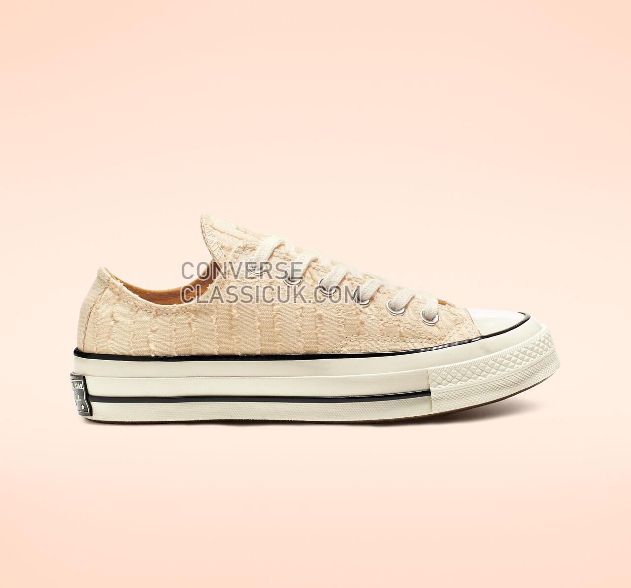 Converse Chuck 70 Fray Me Crazy Low Top Womens 564129C Natural Ivory/Club Gold/Egret Shoes