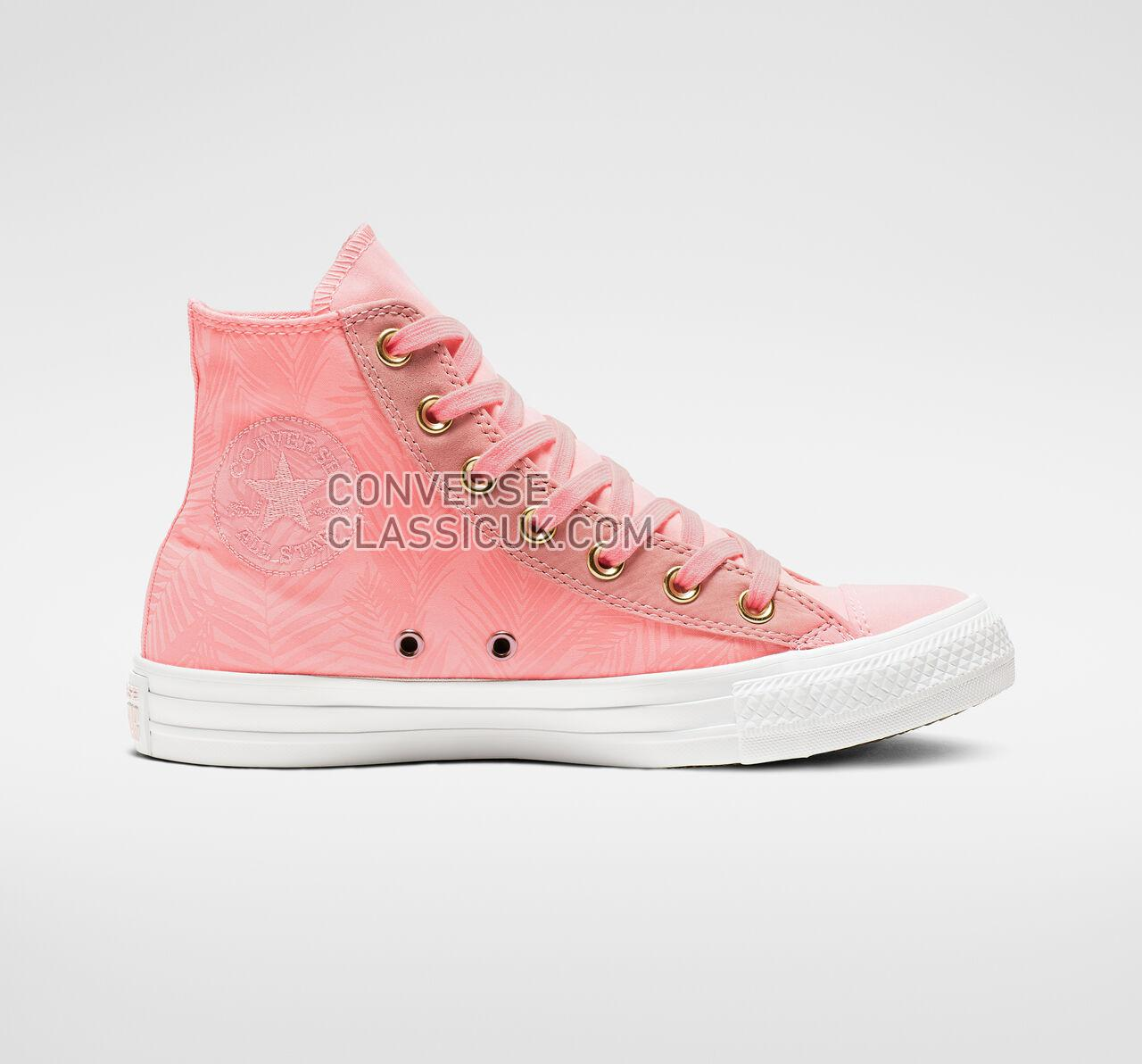 Converse Chuck Taylor All Star Summer Palms High Top Womens 564120F Bleached Coral/Antique Brass Shoes
