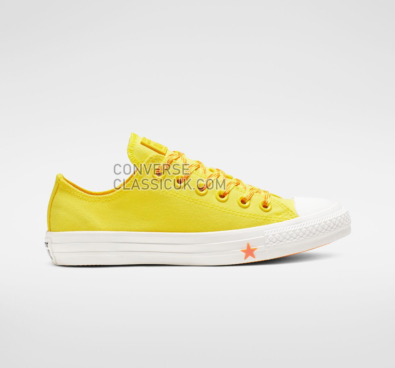 Converse Chuck Taylor All Star Glow Up Low Top Womens 564116C Fresh Yellow/Orange Rind/White Shoes