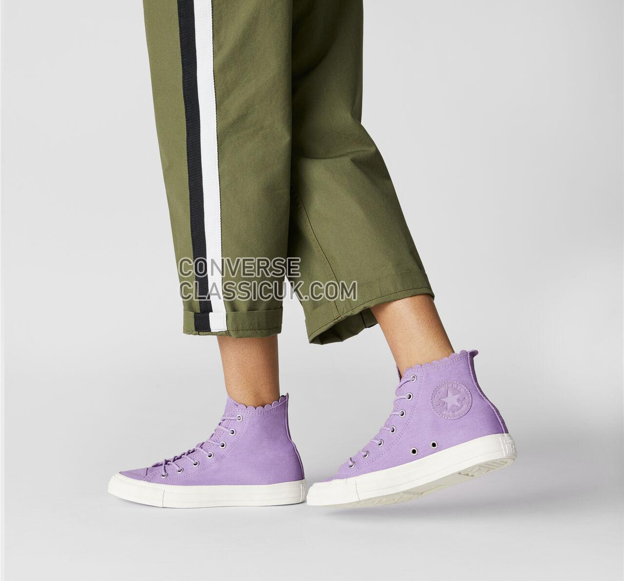 Converse Chuck Taylor All Star Frilly Thrills High Top Womens 564118C Washed Lilac/Washed Lilac Shoes