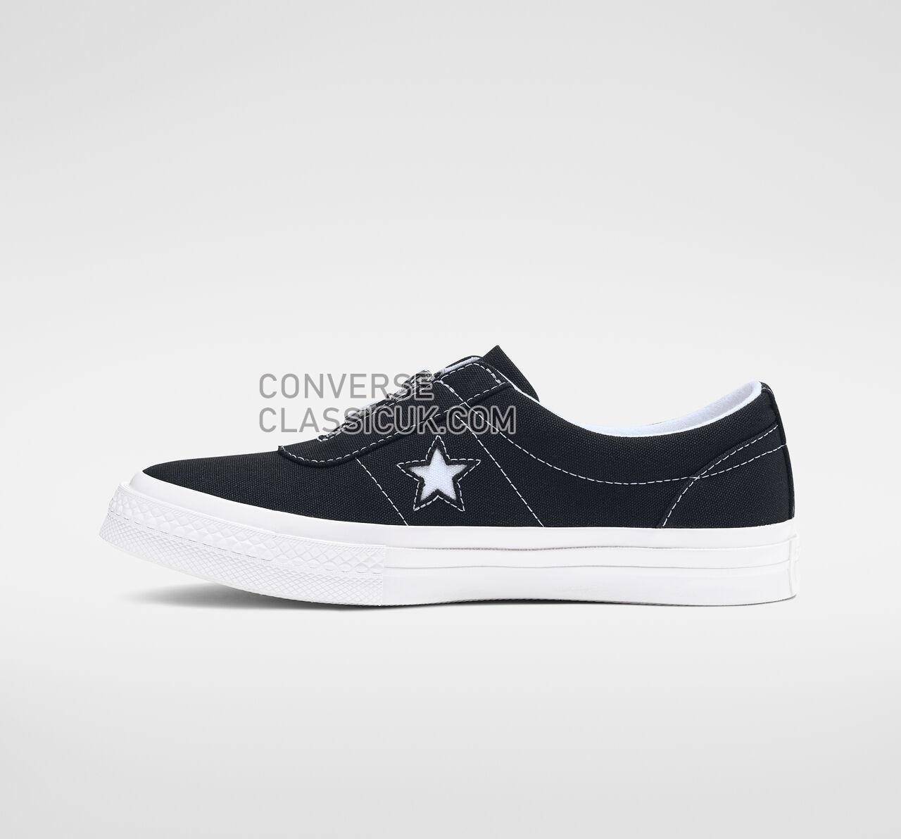 Converse One Star Sunbaked Slip Womens 564206C Black/White/White Shoes