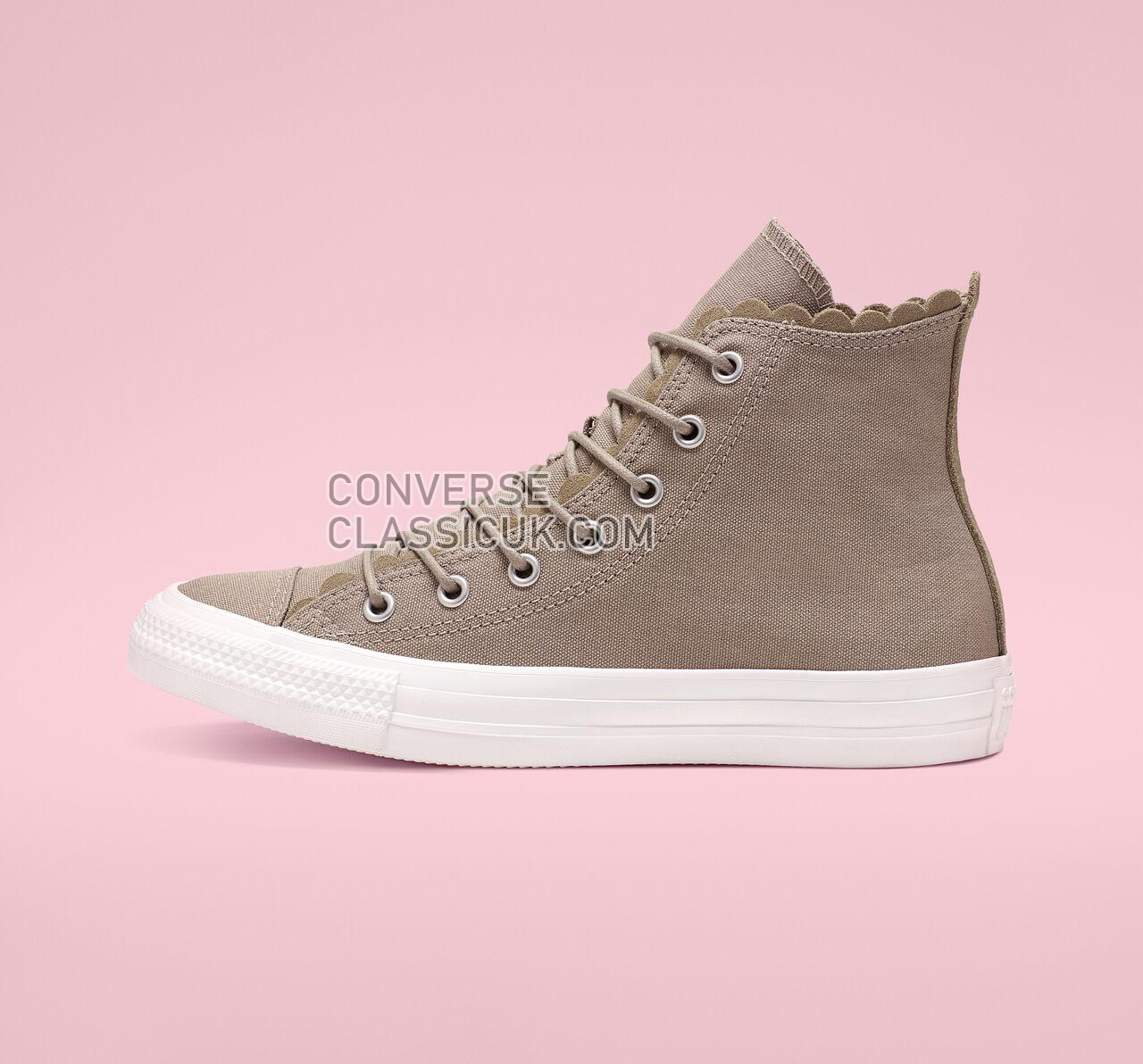 Converse Chuck Taylor All Star Frilly Thrills High Top Womens 564119C Sepia Stone/Sepia Stone/Egret Shoes