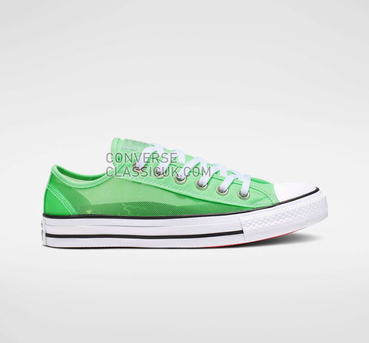 Converse Chuck Taylor All Star See Thru Low Top Womens 564628C Illusion Green/White/Black Shoes