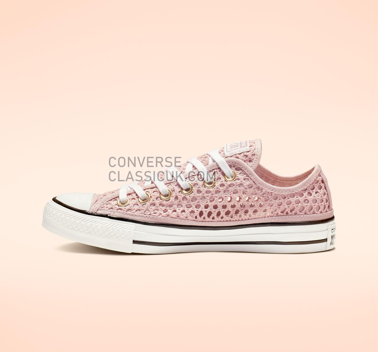 Converse Chuck Taylor All Star Crochet Low Top Womens 564872C Plum Chalk/White/Black Shoes