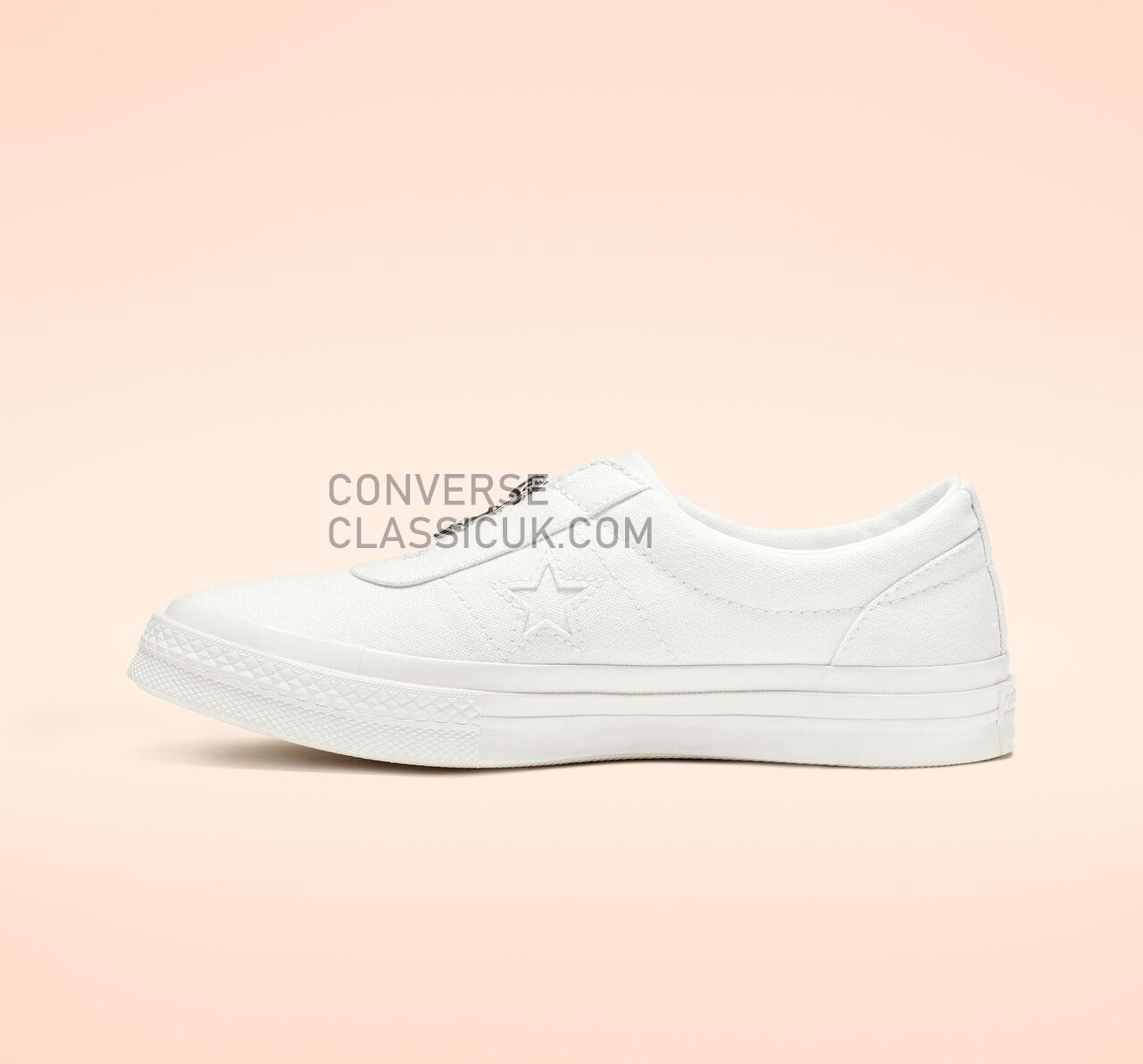 Converse One Star Sunbaked Slip Womens 564205C Natural Ivory/White/White Shoes