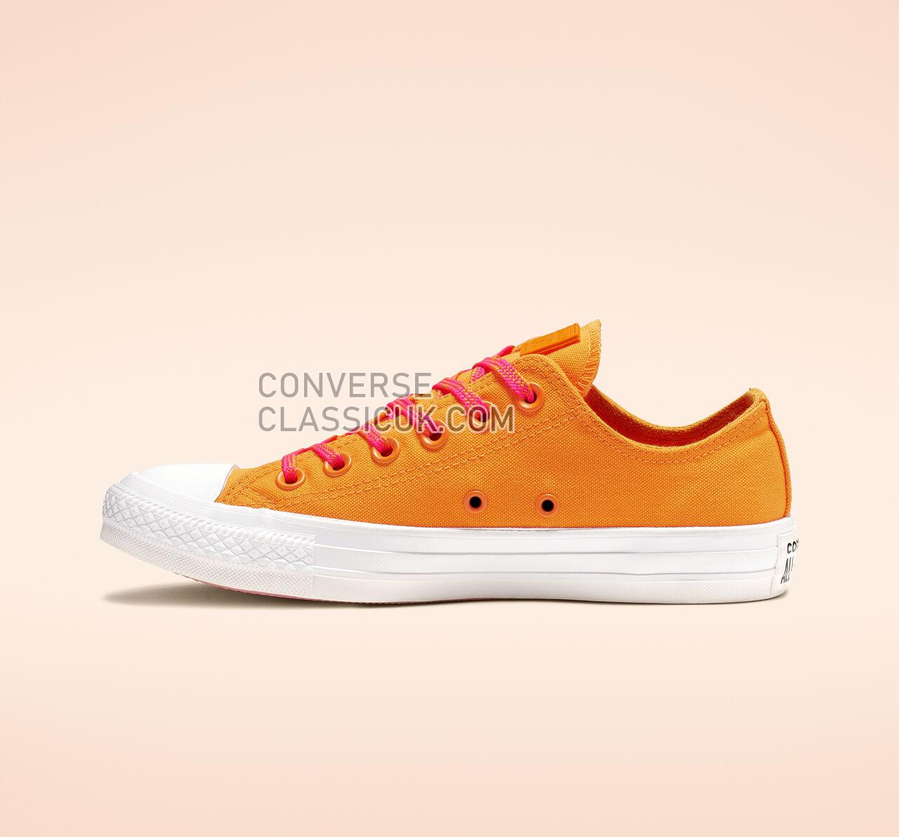 Converse Chuck Taylor All Star Glow Up Low Top Womens 564115C Orange Rind/Racer Pink/White Shoes