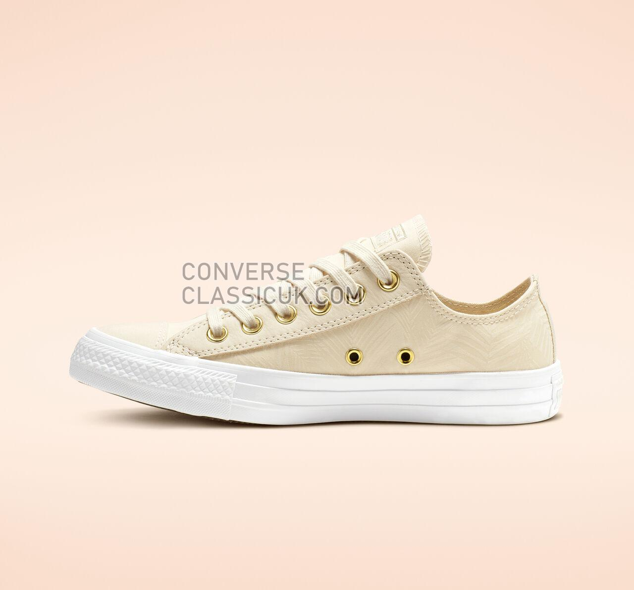 Converse Chuck Taylor All Star Summer Palms Low Top Womens 564113F Natural Ivory/Antique Brass Shoes