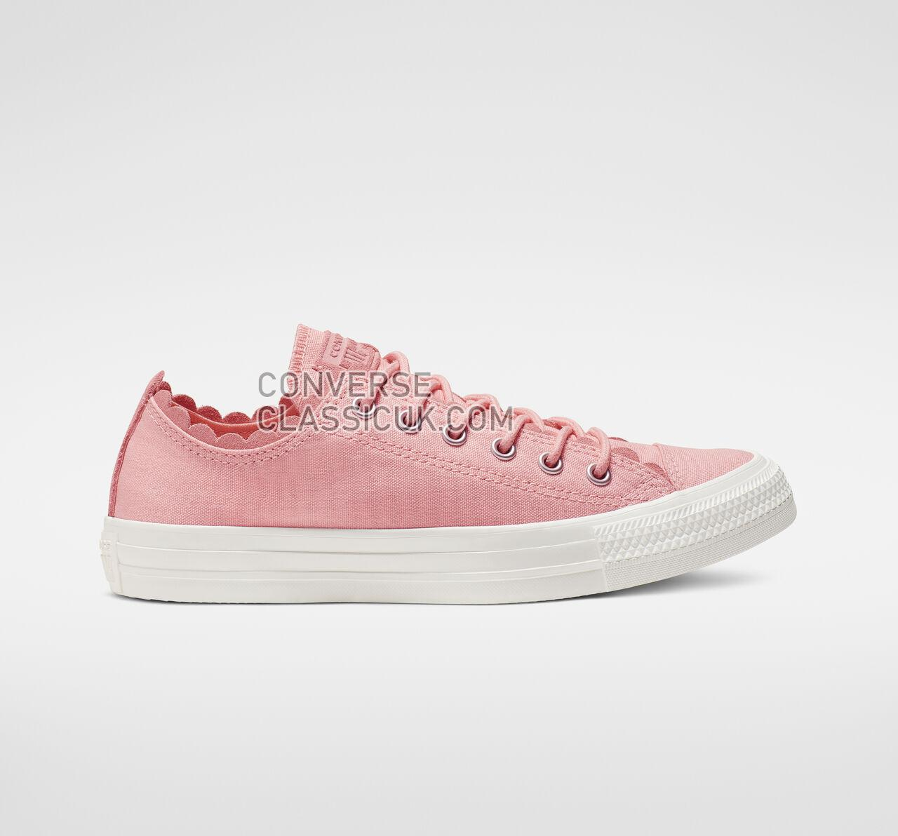 Converse Chuck Taylor All Star Frilly Thrills Low Top Womens 564110C Bleached Coral/Bleached Coral Shoes