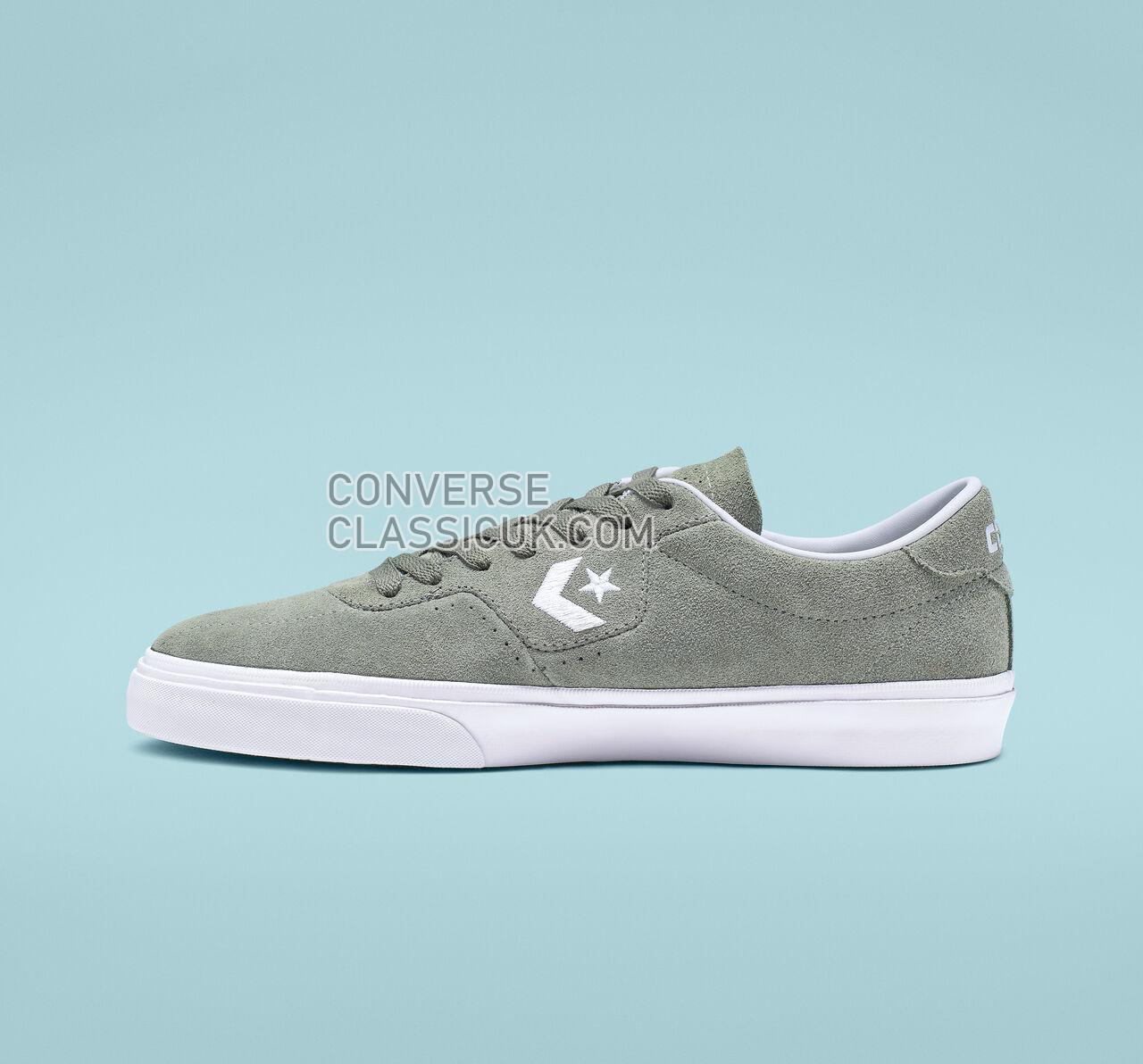 Converse Louie Lopez Pro Low Top Mens Womens Unisex 165271C Jade Stone/White/White Shoes