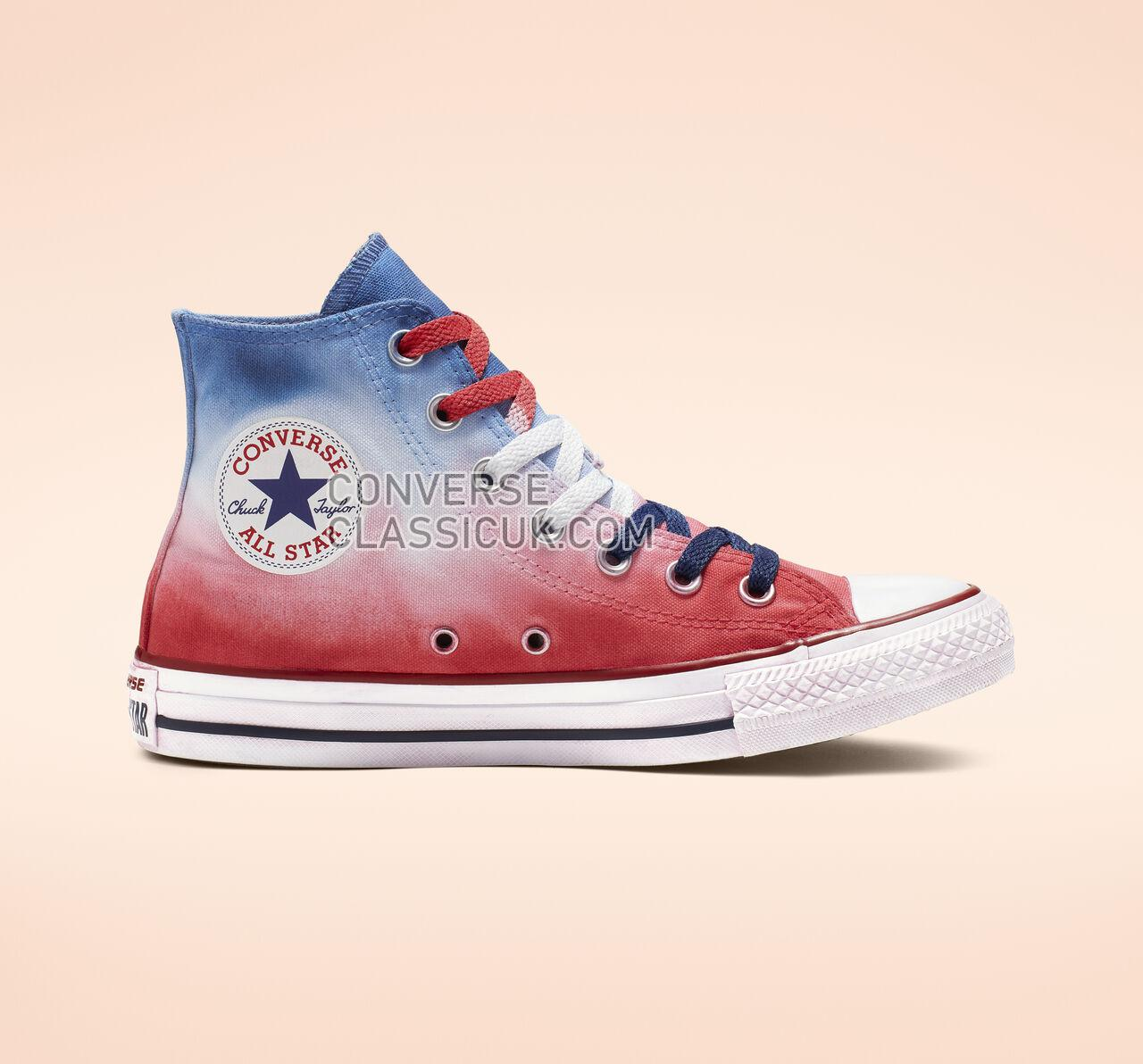 Converse Chuck Taylor All Star Dip Dye High Top Mens Womens Unisex 164523C Navy Red Dip Dyed/White Shoes